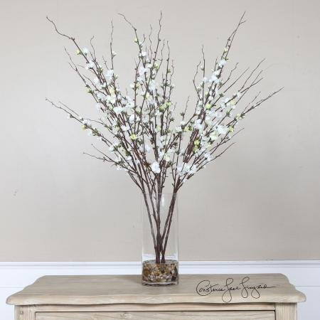 Quince Blossoms Silk Centerpiece